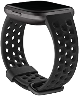 Fitbit Versa 2 Health & Fitness Watch Sport Accessory Band, Large - Black