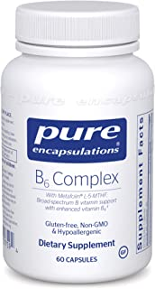 Pure Encapsulations - B6 Complex - Hypoallergenic Dietary Supplement with Metafolin L-5-MTHF - 60 Capsules