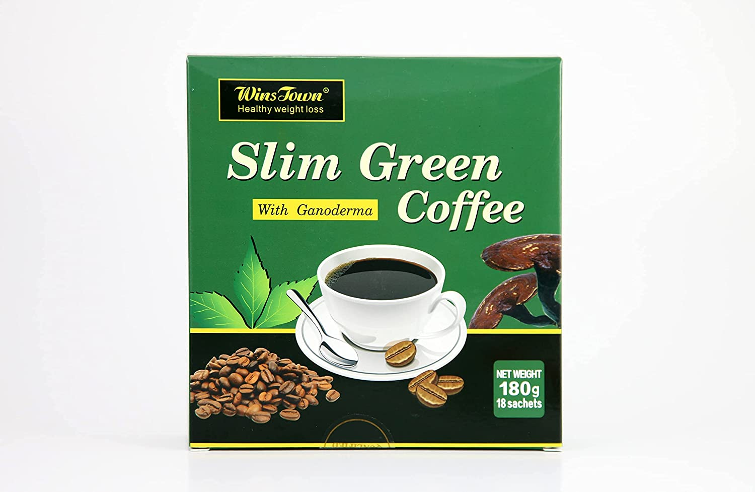 Weight Loss Slim Green Branded goods coffee with Ganoderma Women Men and Direct store for T