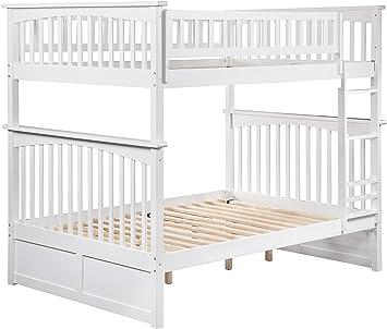 Amazon Com Atlantic Furniture Columbia Bunk Bed Full Over Full White Furniture Decor