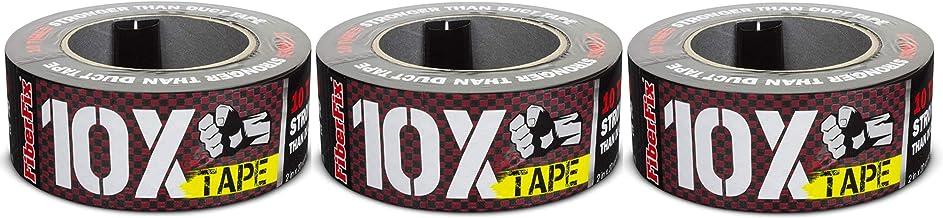 FiberFix 10x Tape 2in x 20yd - 10X Stronger Than Duct Tape - 3 Rolls