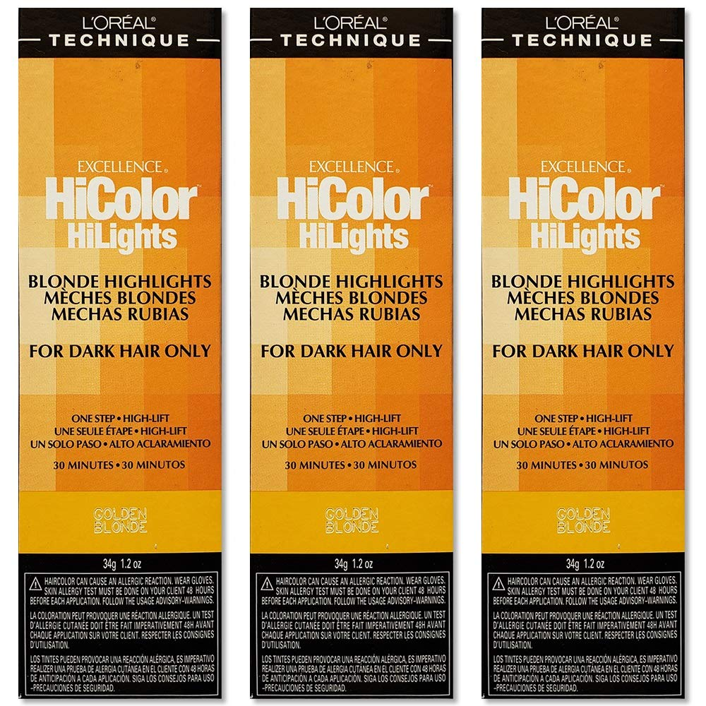 Translated Recommended L'Oreal Excellence HiColor HiLights GOLDEN BLONDE Color HC- Hair
