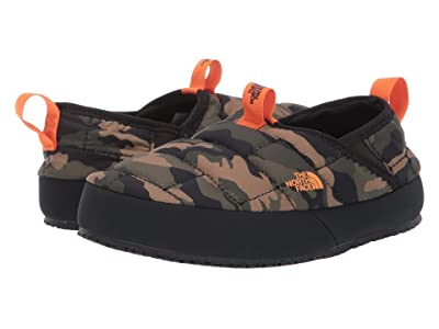 The North Face Kids Thermal Tent Mule II (Toddler/Little Kid/Big Kid) (Burnt Olive Green Woodland Camo Print/TNF Black) Kids Shoes