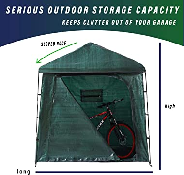 Bravindew Storage Tent Bike Storage shed Waterproof Garden Backyard Storage Buildings Sheds Heavy Duty Space Saving All Seaso