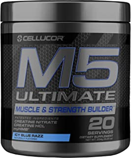 Cellucor M5 Ultimate Post Workout Powder ICY Blue Razz | Muscle & Strength Building Supplement | Creatine Monohydrate + Cr...