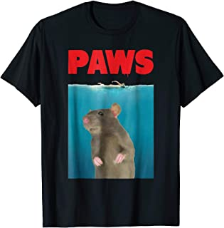 Paws Rat Funny T-Shirt Parody | Mouse Lover Gifts