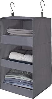 GRANNY SAYS 3-Shelf Hanging Closet Organizer, Collapsible Hanging Closet Shelves, Hanging Organizer for Closet & RV, Gray,...