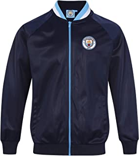 Manchester City FC Official Soccer Gift Mens Retro Track Top Jacket