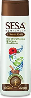 Sesa+ Ayurvedic Strong Roots Shampoo + Conditioner with Banyan Tree Extracts - Prevents Hair Fall, Repairs Damage, Curbs D...