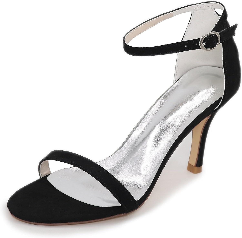 Elobaby Frauen Hochzeit Schuhe Satin Satin Satin Schnalle Niedrigen Ferse Seide Abend Weiße Sandalen Peep Toe HG-45 8,5 cm Ferse  c0f177