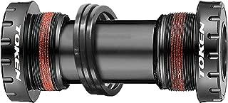 TOKEN External Bottom Bracket English Threaded (BSA) to 24mm Crank for Road Bike/MTB (Black)