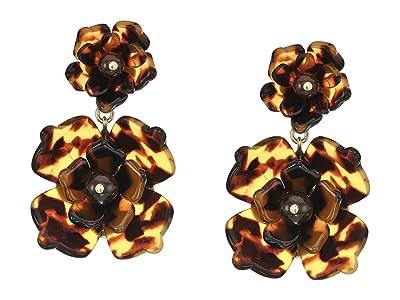J.Crew Bloomer Acetate Earrings (Tortoise) Earring