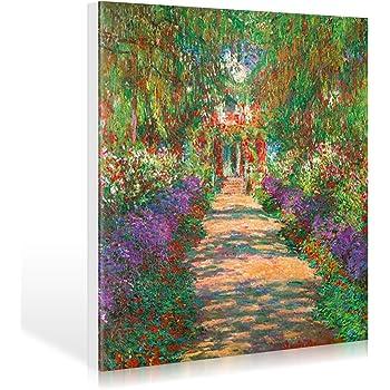 Premium Leinwandbild auf Keilrahmen Bl/ühender Garten Detail Alte Meister//Museum Bild auf Leinwand Kunst Claude Monet Gem/älde - 30x40 cm Wand-Bild Foto