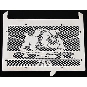 cache radiateur inox poli Suzuki 750 GSR design Bulldog grillage blanc