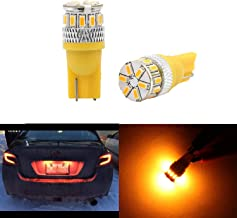 Dantoo 2pcs Super Bright T10 LED Bulbs 194 168 2825 175 192 W5W Wedge Dome Lights 3014 Chipset 18 SMD Amber Yellow Light Lamp for for Car Interior Map License Plate Trunk Parking Light