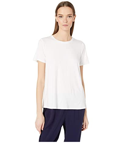 Eileen Fisher Roundneck Tee (White) Women
