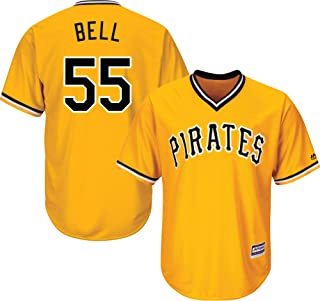 Outerstuff Josh Bell Pittsburgh Pirates Yellow Youth 8-20 Cool Base Alternate Jersey
