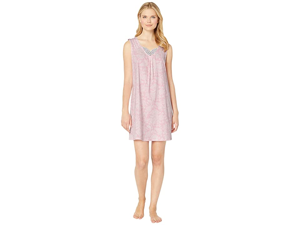 Carole Hochman Short Gown CH21704 (Pink Damask) Women