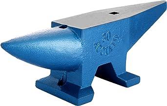VEVOR Aambeeld van staal, 30 kg, gesmeed, met vierkante gaten, 21 mm, voor metaal-kundigen en hitters in metaalwerkplaatse...