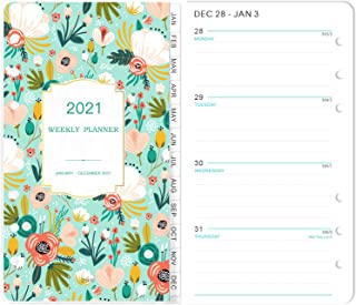 """2021 Planner Refill - 2021 Weekly & Monthly Planner Refill, A6 Planner Inserts, 3-3/4"""" x 6-3/4"""", Jan 2021-Dec 2021, Loose ..."""