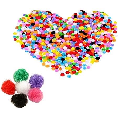 2000 Piezas Pompones de Bola Pom Poms del Craft,Pompones de Colores Mini Pompoms Bola para Bricolaje, Manualidades y decoraciones Artesanía para Hobby Suministros 10mm /0.4 pulgada, Multicolor