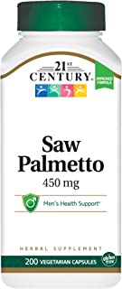 21st Century Standardized Herbal Extract Capsules, Saw Palmetto Extract, 200 Count (Pack of 3)