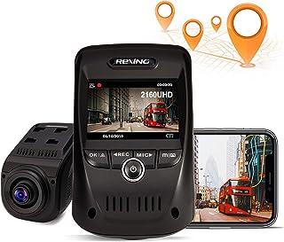 REXING V1 MAX 4K Dash Cam 3840X2160@30fps UHD WiFi GPS Car Dash Camera w/night vision, Supercapacitor,170 Degree wide angl...