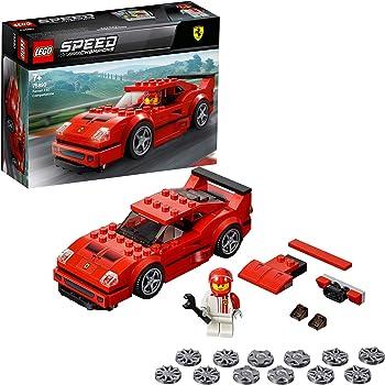 LEGO SpeedChampions FerrariF40Competizione, Set da Costruzione con Minifigura del Pilota, Macchine Giocattolo per Ragazzi, Modello Forza Horizon 4, 75890