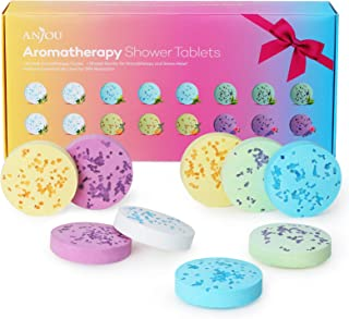 Shower Bomb Tablets Aromatherapy Bath Bombs with Pure Essential Oils 16-Piece Shower Fizzers Streamers Melts Vapor for Hom...
