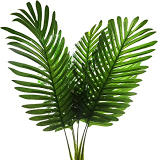 SLanC 5 Pack Palm Artificial Plants Leaves decorations faux large Tropical Palm Leaves Imitation Ferns Artificial Plants Leaf for Home Kitchen Party Flowers Arrangement Wedding Decorations
