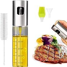 Eletorot Oil Sprayer Dispenser,Azijn Sprayer,Dressing Spray met Brush Portable,Grilling Olive Oil Glass Bottle 100ml,Premi...