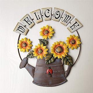 Yaosh Vintage żeliwny kwiat kształt ścienny   dekoracja ścienna etykieta powitalna   tabliczka domowa ogród bar kawiarnia ...