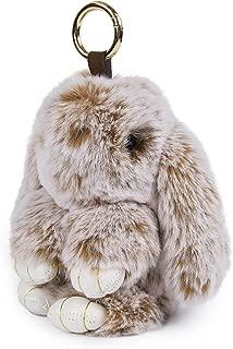 Fasterhab Faux Fur Rabbit Pendant Soft Fluffy Bunny Cute Keyring Handbag Bag Decoration Ornament Gift