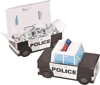 Patrol Car Police Party Favor Treat Boxes - 12 Piece