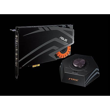 ASUSTek ハイレゾ対応 STRIXゲーミング サウンドカード PCI-E コントロールボックス付属 24bit/192kHz STRIX RAID DLX