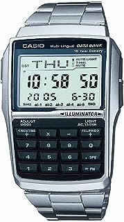 DATA BANK(データバンク)CASIO(カシオ)腕時計 DBC-32D-1A レトロデザイン 電話帳 計算機 チープカシオ シルバー フルメタル ステンレスブレスレット デジタル メンズ レディース [並行輸入品]