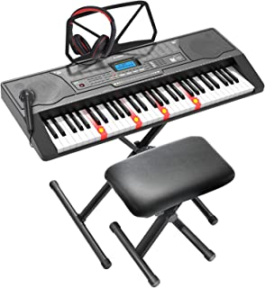 LAGRIMA LAG-450 61 Key Electric Keyboard Piano with Stand, S
