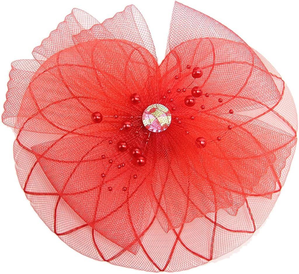 Ealafee Womens Flower Fascinator Hats Wedding Headpiece Cocktail Party Headwear
