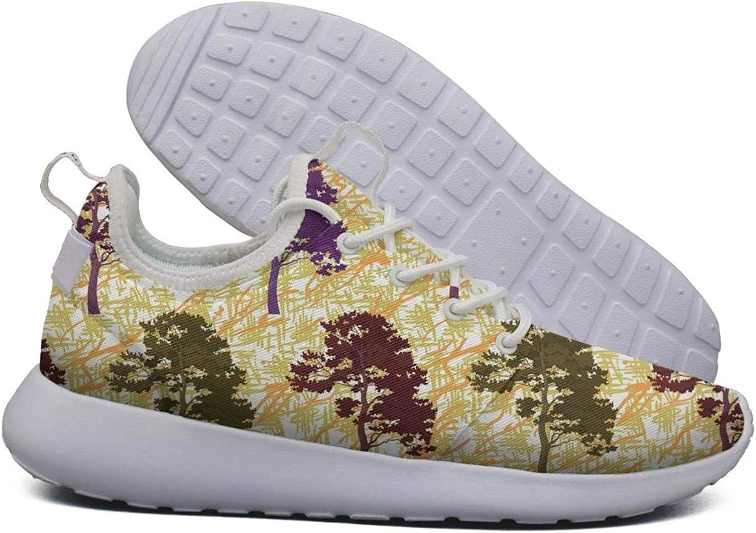 Unjdahsdd Willow Tree Green Branch Women's Casual Sneakers Lightweight Breathabl Hiking shoes