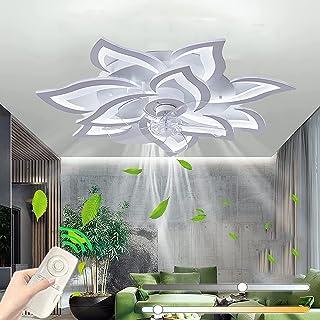 Ventilateurs De Plafond Avec Lampe Intégrée Silencieux Éclairage Avec Télécommande LED Dimmable Moderne Invisible Ventilat...