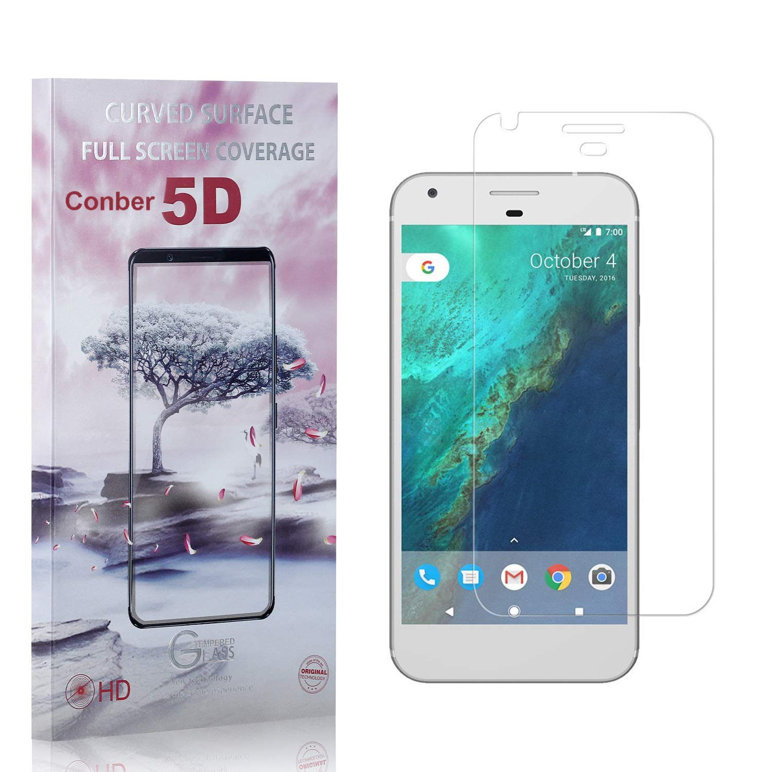 Conber 4 Pack Screen Protector for Anti-Shat XL Google Washington Mall Same day shipping Pixel