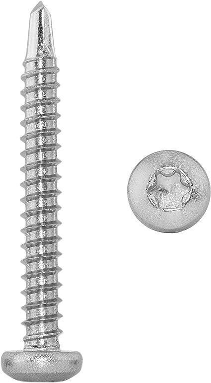 - 4,8x45 z.B. Aluminium TORX - Edelstahl A2 - Innensechsrund-Antrieb f/ür Weichmetalle D/´s Items/® Form M Bohrschrauben mit Flachkopf u V2A Schnellbauschrauben DIN 7504 20 St/ück -