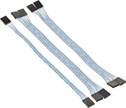 Uxcell 4 Pin 4 Way 24AWG Female IDC Flat Ribbon Cable 2.54 mm Pitch 20 cm 5 Pieces