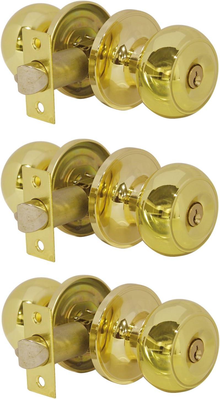 Probrico Entrance Door Knobs Door Lock Keyed Alike Lockset ...