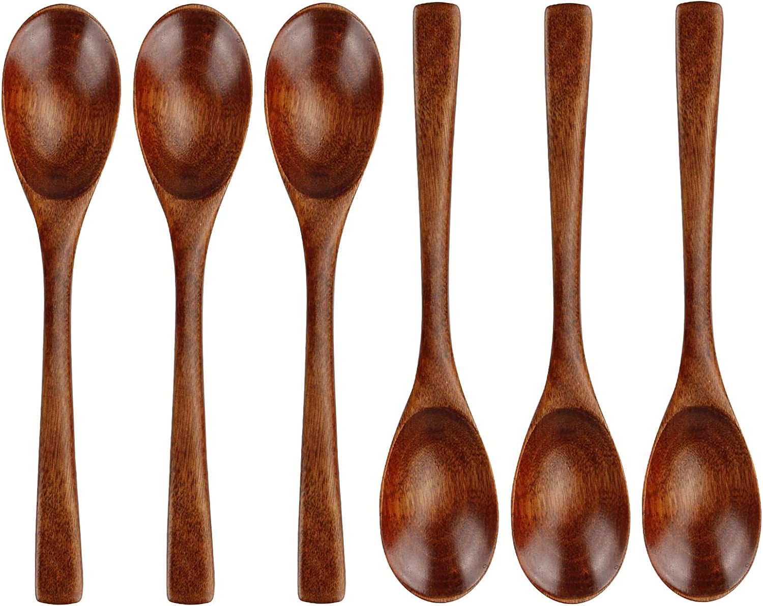 Special price 6 Pcs Wooden Coffee Spoon 8 Eating Mixing Complete Free Shipping Inch Stirrin for
