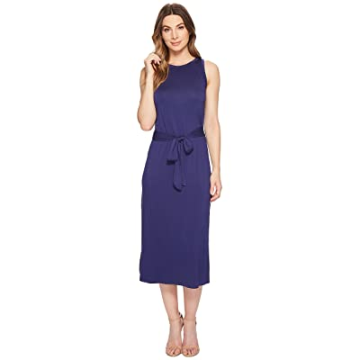 Three Dots Refined Jersey Easy Midi Dress (Sparkling Water) Women