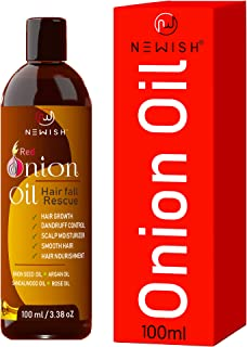 Newish Red Onion Oil for Hair Growth and Dandruff, Hair Fall Control for Men & Women 100ml