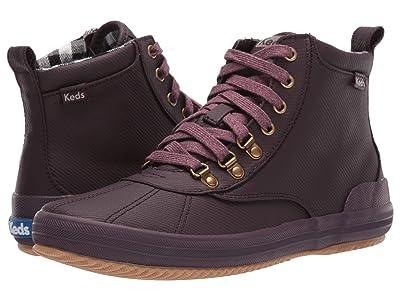 Keds Scout Boot II Matte Twill WX (Burgundy Splash Twill) Women