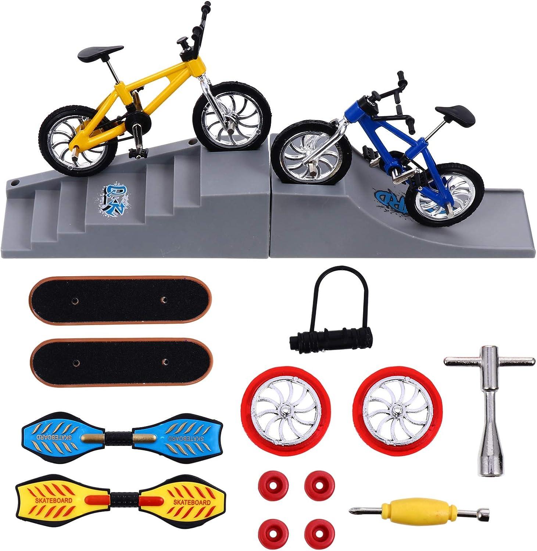 NUOBESTY 16 Pcs Skate New sales Park Cheap mail order sales Finger Kit Toys Mini Set