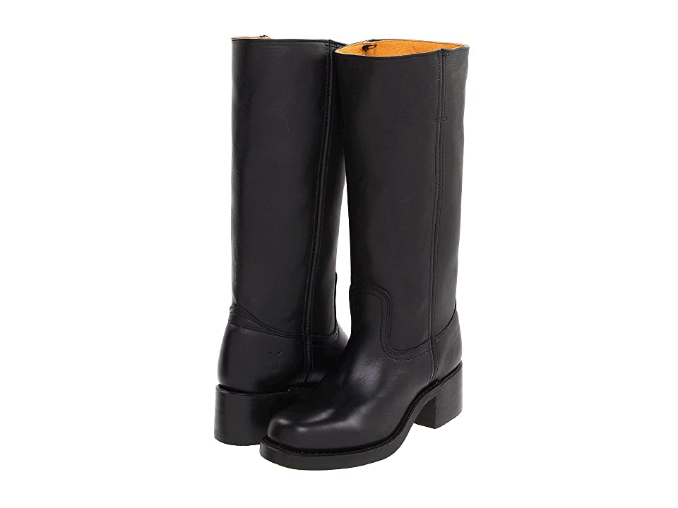 Frye Campus 14L (Black Leather) Cowboy Boots